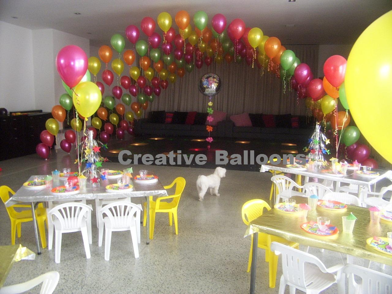 Balloon decorations for dancefloors for Spring dance decorations
